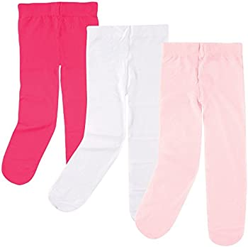 3-Pack Luvable Friends Baby Girls' Nylon Tights (0 to 4T)