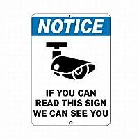 警告サインブリキ看板を読むことができる場合は、この看板を読むことができる場合は、ガレージ金属標識通知安全セキュリティサイン通り装飾