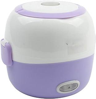 Cocina eléctrica multifuncional Mini olla arrocera Aislamiento Calefacción Lonchera eléctrica 2 capas Vapor portátil Contenedor de alimentos automático multifunción