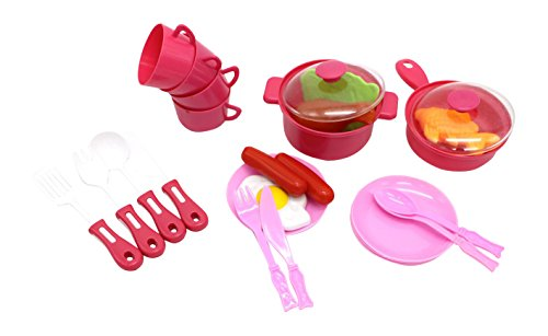 Little Treasures Cook amp Serve Meals Playset for Kids