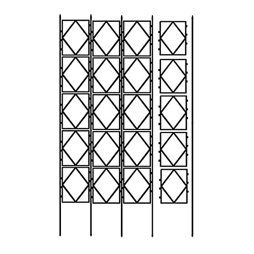 YUNYI Expandable Garden Trellis Plant Support,Black, Iron Plant Grid,Fixed Height, The Number of Grids can be Increased Indefinitely, Freely Customized