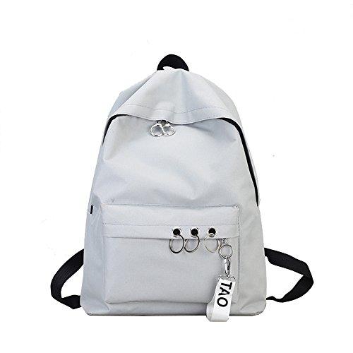 Rugzak dames kleine waterdichte schoudertassen nylon casual schoudertas daypacks dames kleine rugzak anti-diefstal schoolrugzak grijs