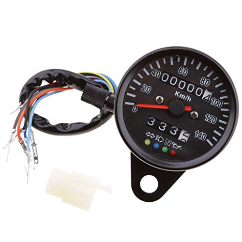 Motorrad Tacho Tachometer Tachoanzeige LED Nachtlicht Tachoanzeige für Fernlicht, Leerlauf, Motoröl und Blinke