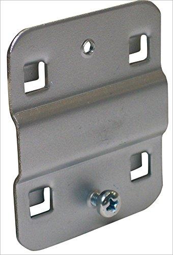 ADB Lochwand Lochblech Grundplatte Lochwandhaken Werkzeughalter, Farbe (RAL):Weissaluminium (RAL 9006), Ausführung:klein