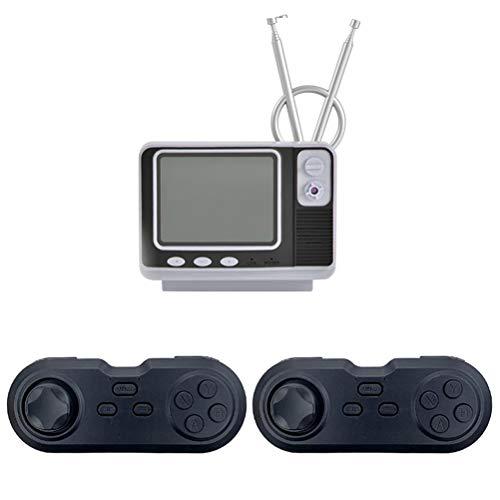 Knowoo Retro-TV-Spielekonsole mit doppeltem Bücherregal TV-Game-Player mit 3-Zoll-Display zum Anschließen...