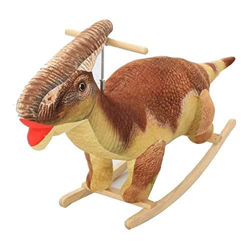 XWX Simulation Kinder Schaukelstuhl Kreatives Geschenk Baby Dinosaurier Rocking Horse Massivholz Langlebig