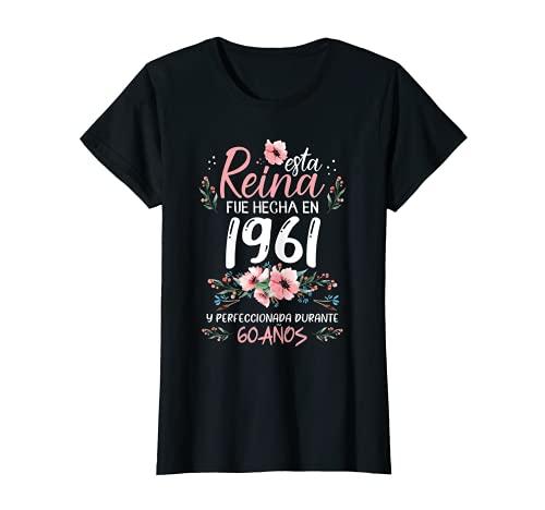 Mujer 60 Años Regalo de Cumpleaños Mujer Hecha En 1961 60 Años Camiseta