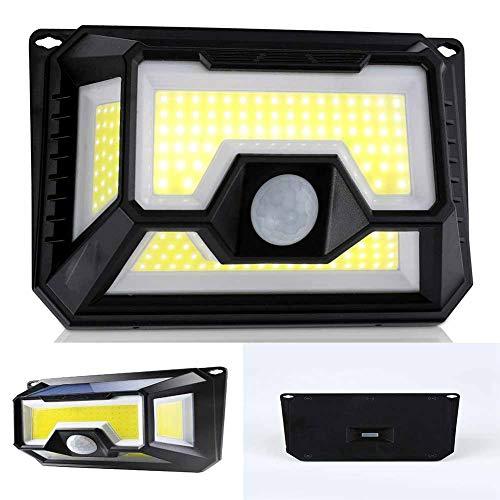 4-zijdige LED Waterdichte COB Zonne-wandlamp, 120 ° Buiten Bewegingssensor Veiligheidslicht Voor Tuin, Voordeur, Terras, Garage (155 * 160 * 115 Mm)