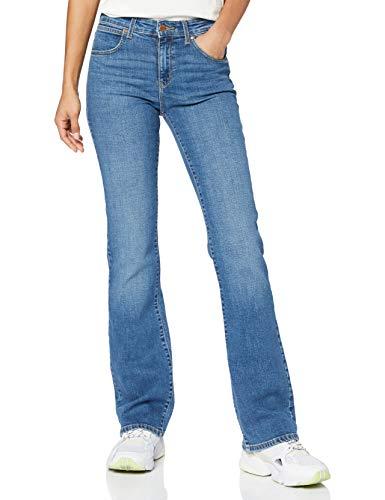 Wrangler Womens Bootcut Jeans, Wonder Blues, 31/30