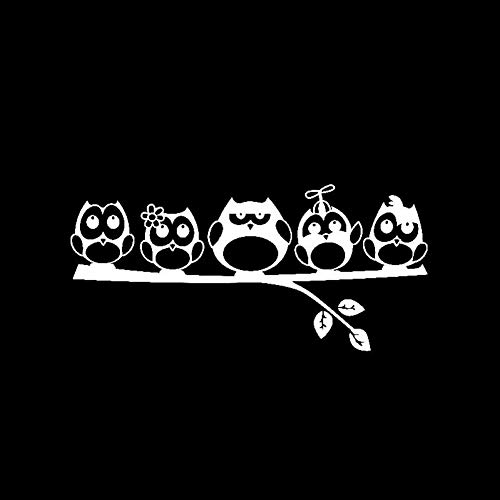XCWQ Autoaufkleber 17,2 cm * 8 cm Sonnenschutz Wasserdicht Love Family Vinyl Aufkleber Eule Animal Show Persönlichkeit Abdeckung Kratzer