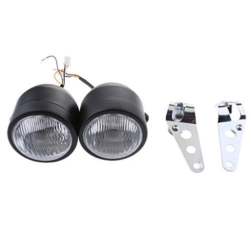 prasku Lámpara de Foco de Luz Delantera Delantera de Motocicleta Universal con Soporte de Montaje