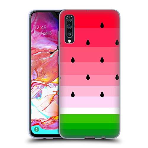 Head Case Designs Licenza Ufficiale Haroulita Anguria Frutti Cover in Morbido Gel Compatibile con Samsung Galaxy A70 (2019)