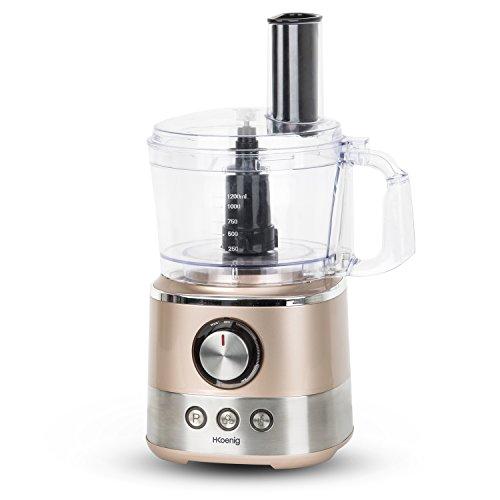 H.Koenig MIX330 Küchenmaschine, Mixer, Suppenbereiten, Smoothie, Knetfunktion, 1,2 L