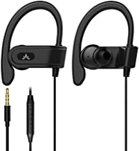Avantree E171 Sports Earbuds Wired with Microphone, Sweatproof Wrap Around Earphones with Over Ear Hook, in Ear Running Headphones for Workout Exercise Gym Compatible with iPhone, Cell Phones