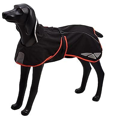 Pethiy Dog Raincoat Dog Jackets, Pet Outdoor Clothing Reflective,Dogs Waterproof Jacket Four-way stretch for Dogs Reflective-Orange-XXL