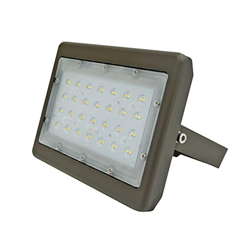 50W LED Outdoor Flood Light Replacement Fixture for 200W MH/HPS/HID Equivalent - 4000K Natural White, 5763 Lumens 100-277V AC with IP65 Waterproof - UL+DLC Certified