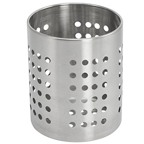 COM-FOUR® bestek afdruiprek keukengerei houder bestekkorf roestvrij staal Ø 10,0cm