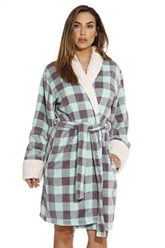 Just Love Kimono Robe/Bath Robes for Women,Mint / Charcoal,Medium