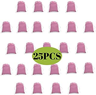 100% Cotton Drawstring Backpack Bulk, Cotton Cinch Sacks, Cotton Tote Backpack(25Pcs 14