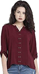 Leriya Fashion Womens Diamond Crepe Western Top