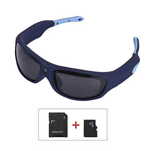 Andoer Sunshine Sunglasses 1080P FHD Outdoor Sports Action Camera IP55 Waterproof Smart Video Recording with 32GB TF Card Polarized UV Protection Safety Lenses Sport Design