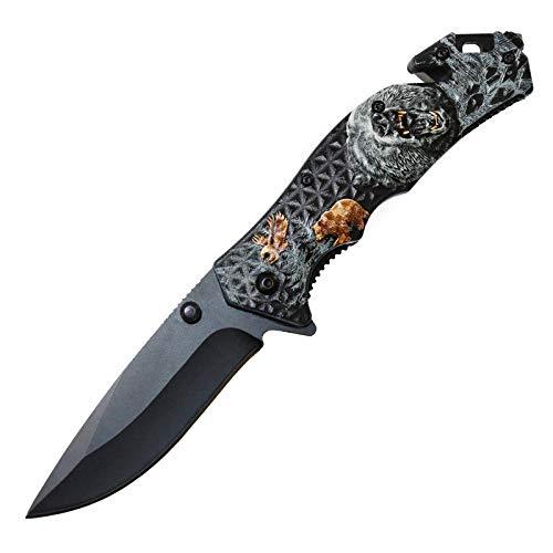 Bär Outdoor Klappmesser Taschenmesser Multifunktionsmesser Jagd Messer Geschenk Jäger
