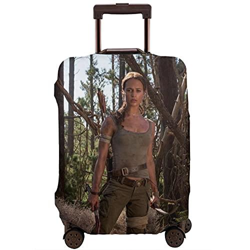 Tomb Raider Bagagli Da Viaggio Custodia Protettiva Cintura Elastica Custodia Protettiva Antigraffio Spessa Maniche Elastiche Lavabile Antipolvere Stampa, bianco, L,
