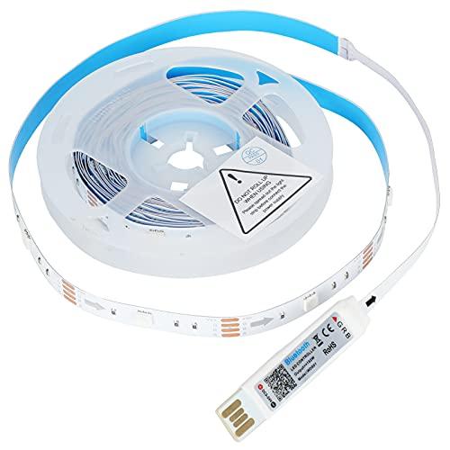 Tiras de Luces LED de 4 m, Funciones de sincronización de Control, luz de música RGB con 2 Hebillas para Dormitorio, para KTV, para Sala de Estar, para Pared de Fondo