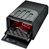 GunVault MiniVault Quick Access Compact Gun Safe with Illuminated No-Eyes Digital Keypad, Auto Slide-Out Drawer and LED Illumination (1 Pistol Capacity)