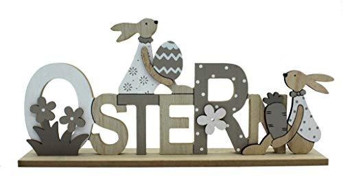 DARO DEKO Holz Hase Ostern Schriftzug 29 x 14cm 1 Stück
