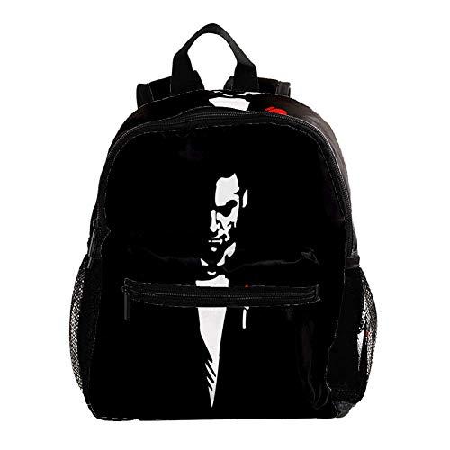 Kinderrucksack Hübscher Mann im Anzug Rucksäcke für Kinder/Kleinkinder Jungen und Mädchen von 3-8 Jahren 25.4x10x30CM