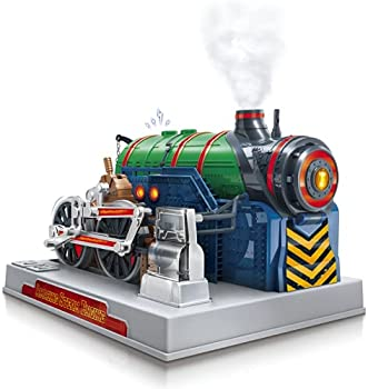 Playz Train Steam Engine Model Kit to Build for Kids with Real Steam STEM Science Kits for Kids Model Engine Kits for Adults and Educational Hobby Gift Mini Engine Set Engineering Toy Boys & Girls