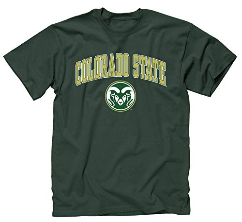 Adult Arch & Logo Soft Style Gameday T-Shirt (Colorado State Rams - Green, Large)