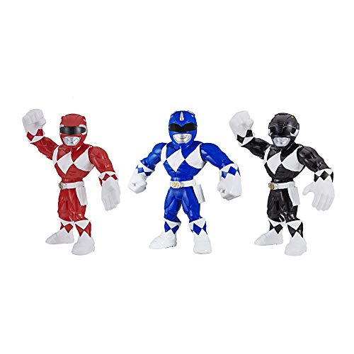 Playskool Heroes Mega Mighties Power Rangers 3-Pack -- Red Ranger, Blue Ranger, and Black Ranger 10-inch Action Figures, Kids Ages 3 and Up (Amazon Exclusive)