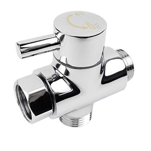 TOOGOO SOLID Umsteller 3-Wege-Umschaltventil Alle 1/2 Zoll IPS Duschsystem Ersatzteil,Kupfer Verchromen
