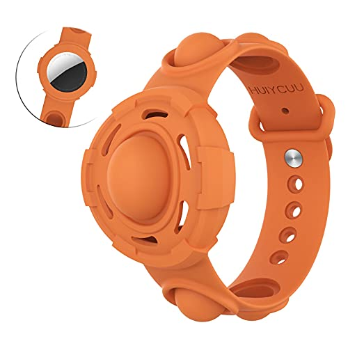LEMONCOVER Stress Relief Wristband Fidget Toys for Apple AirTag Finder Anti-Lost Location Tracker...