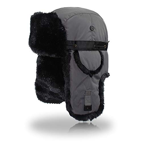 QingFang Bomber Hat Trapper Hat Winter Windproof Ski Hat with Ear Flaps Warm Hunting Hats for Men and Women