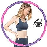 BIAOQINBO Hula Hoop - Hula Hoop con schiuma, 6-8 segmenti rimovibili, per ridurre il peso e massaggiare, pneumatici Hula Hoop con corda per saltare e regolare la larghezza