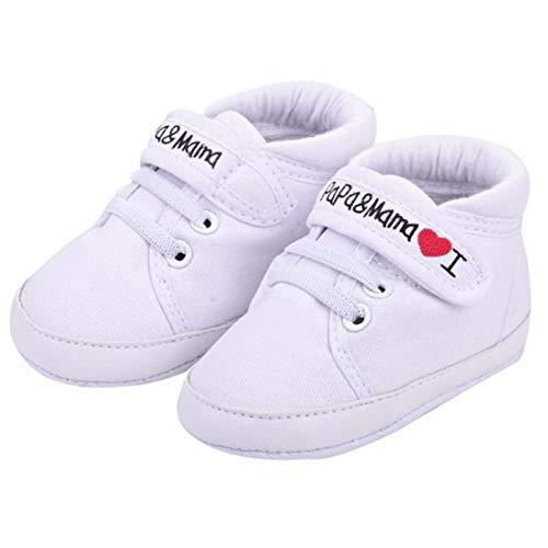 VESNIBA Zapatos para bebé recién nacido. Blanco Talla única
