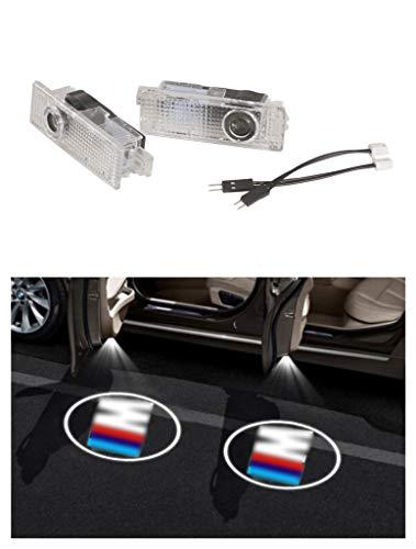 Nefelibata - 2 luces LED de bienvenida para puerta de alta definición, proyector Phantom Sense de bienvenida, apto para BMW M POWER