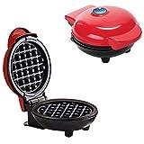 ZHURGN Mini fabricante portátil máquina de la parrilla, máquina de fabricante de waffle 350W, placas premium antiadherentes, para hamburguesas gourmet, sándwiches, pollo al otro en el desayuno, almuer