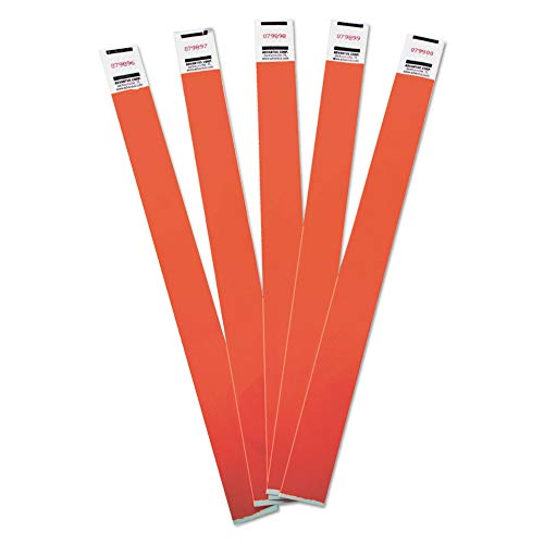 Advantus Crowd Management Wristbands, Sequentially Numbered, Red, 500/Pack