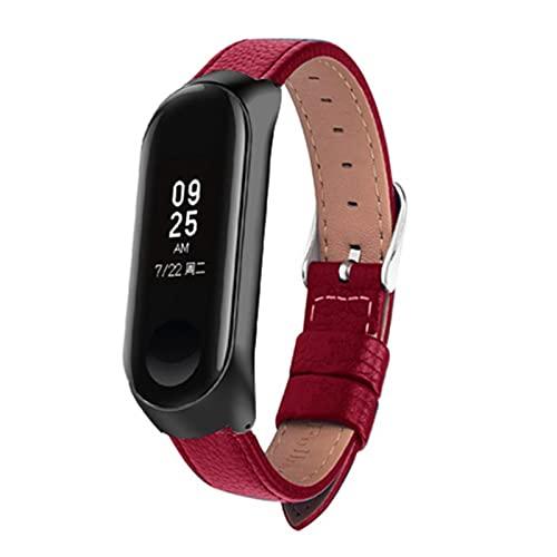 Estuche de cuero colorido negro rosa dorado para Xiaomi MiBand 6 4 5 correa pulsera correa banda de reloj inteligente