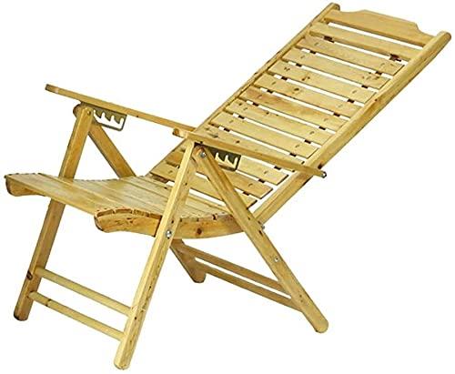 YZPDD Silla de salón de Patio Silla Plegable Silla Ancha Silla de bambú Silla de bambú Viejo Almuerzo Silla Silla de Madera Maciza Duradera