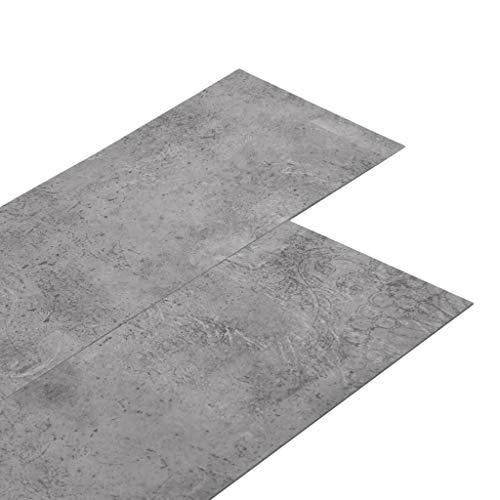 vidaXL PVC Laminat Dielen Selbstklebend Vinylboden Vinyl Boden Planken Bodenbelag Fußboden Designboden Dielenboden 5,02m² 2mm Zementbraun