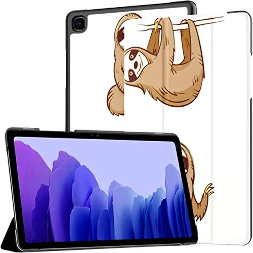 Funda para Galaxy Tab A7 10.4 2020, Juego de Perezosos Lindos de Dibujos Animados, Cuatro Animales, Funda Plegable de Cuero de PU, para Despertador automático/Ajuste para Dormir, Samsung Galaxy Tab
