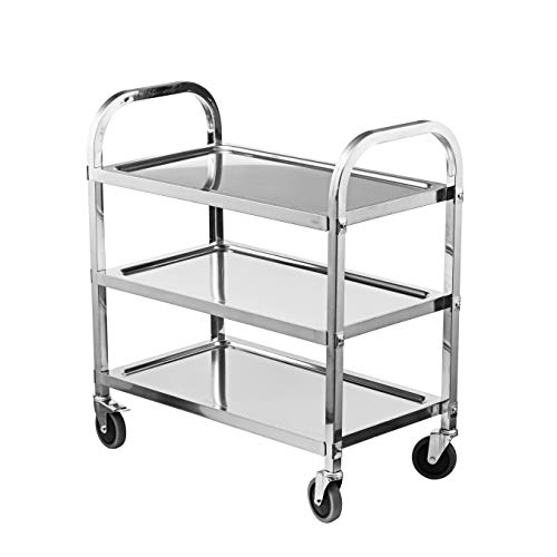 BestValue GO Stainless Steel 3-Tier Kitchen Trolley Kitchen Cart