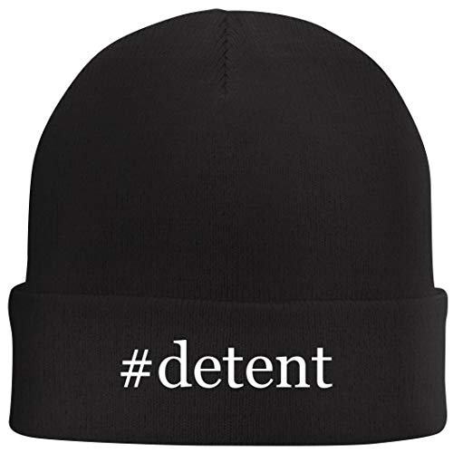 Tracy Gifts #Detent - Hashtag Beanie Skull Cap with Fleece Liner, Black, One Size