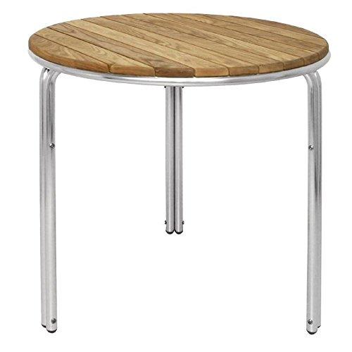 Bolero Bolero gl981rund Esche und Aluminium Tisch