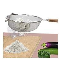 こし器 食品フルーツジュースフィルター小麦粉ふるいオイルストレーナーザルハンドヘルドスクリーンメッシュキッチンツールステンレスファインメッシュストレーナー 調理器具